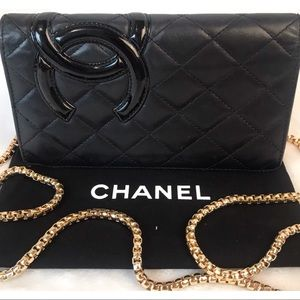 CERTIFIED AUTH. CHANEL CAMBON CC LAMBSKIN WALLET
